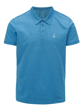 Tricou polo albastru melanj Mr.Sailor