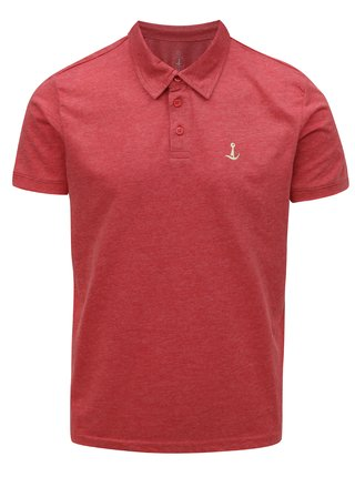 Tricou polo rosu melanj Mr.Sailor