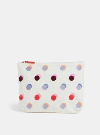 Krémová kozmetická taška s farebnými bodkami Cath Kidston