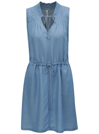 ce7b23fb70dd Svetlomodré šaty so zaväzovaním v páse QS by s.Oliver