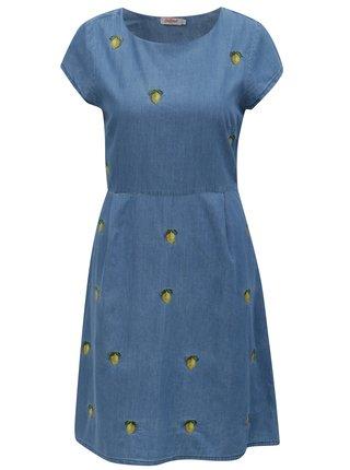 Modré dámske rifľové šaty s motívom citrónov Cath Kidston