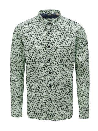 Modro-zelená vzorovaná košeľa Dstrezzed