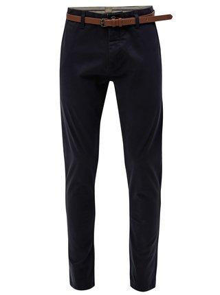 Pantaloni chino albastru inchis cu curea Dstrezzed