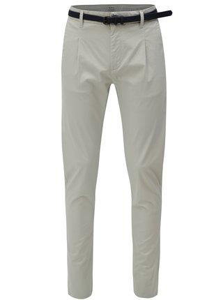 Pantaloni chino gri deschis cu curea Dstrezzed
