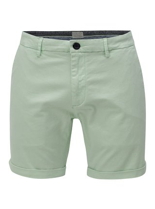 Pantaloni scurti chino verde deschis cu dungi Dstrezzed