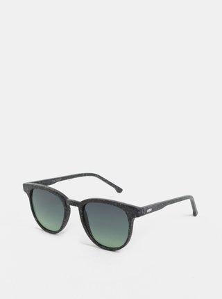 Tmavosivé unisex slnečné okuliare Komono Winston