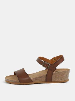 cb1ab95bbd Hnedé sandále na kline OJJU