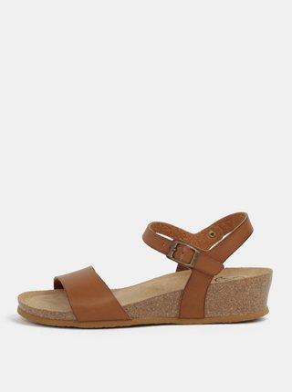 57bb429537 Svetlohnedé sandále na kline OJJU