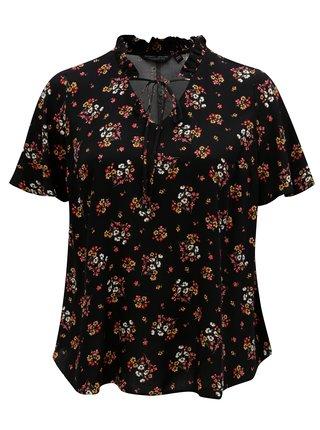 Bluza neagra cu model floral Dorothy Perkins Curve
