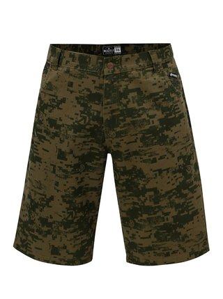 Pantaloni scurti verzi cu model pentru barbati MEATFLY Bobber