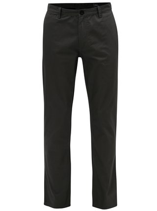 Sivé pánske slim chino nohavice NUGGET Lenchino