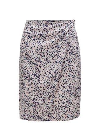 Růžovo-krémová vzorovaná zavinovací sukně GANT