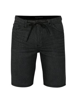Pantaloni scurti gri inchis din denim pentru barbati - Horsefeathers Asphalt