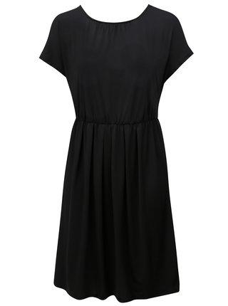 Černé šaty s překládanou zadní částí Zizzi