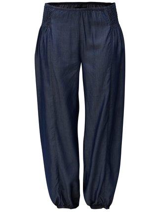 Pantaloni albastru inchis lejeri cu banda elastica in talie Zizzi