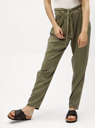 Khaki volné kalhoty se zavazováním  VERO MODA Breeze