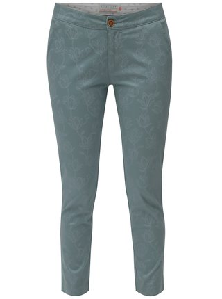 Mentolové květované chino kalhoty Brakeburn