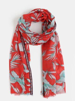 Zeleno-červený vzorovaný šátek VERO MODA Mahareta