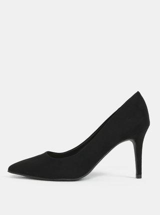 Pantofi negri cu aspect de piele intoarsa Dorothy Perkins