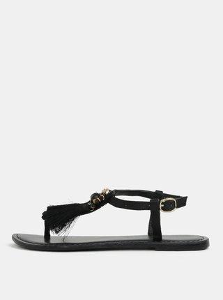 Čierne sandálky so strapcami Dorothy Perkins