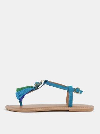 Tyrkysové sandále so strapcami Dorothy Perkins
