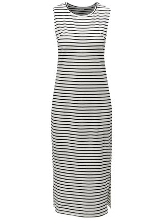 Rochie midi negru-alb in dungi Jacqueline de Yong Charm