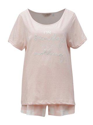 Pijama roz deschis cu broderie Dorothy Perkins