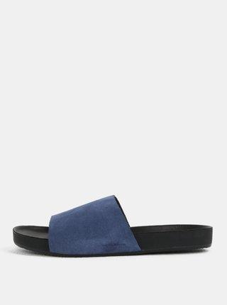 Papuci albastri din piele intoarsa pentru barbati Vagabond Funk