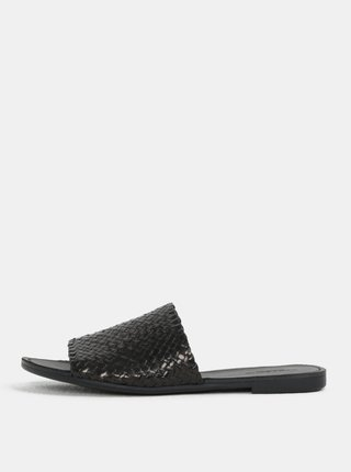 Papuci de dama negri din piele naturala Vagabond Tia