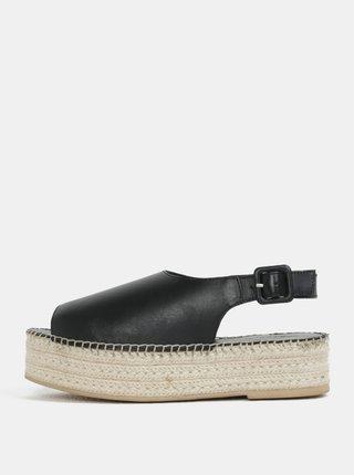 Sandale de dama negri din piele naturala cu platforma Vagabond Celeste