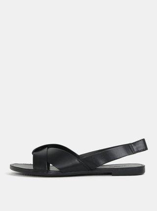 Čierne dámske kožené sandálky Vagabond Tia