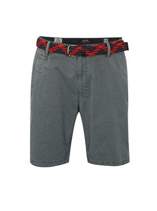 Pantaloni barbatesti scurti gri loose fit  cu model si curea s.Oliver