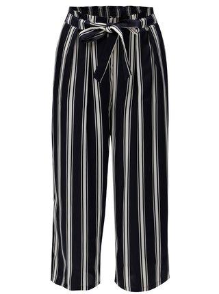 Pantaloni albastru inchis lejeri cu model in dungi Rich & Royal