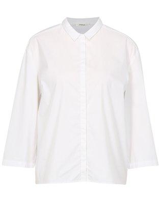 Biela voľná košeľa s 3/4 rukávom Moss Copenhagen Memba