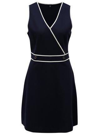 Tmavě modré šaty s překládaným výstřihem Nautica Flaux