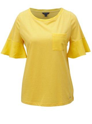 Žlté tričko s volánmi na rukávoch Nautica