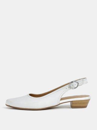 Biele kožené sandálky s otvorenou pätou Tamaris