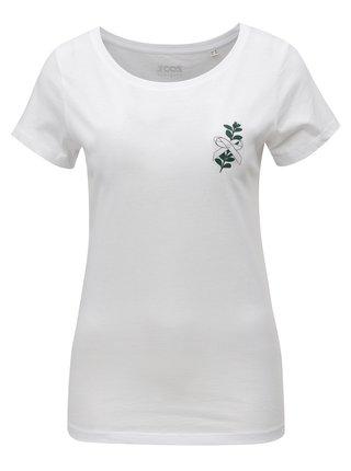 Bílé dámské tričko s potiskem ZOOT Myrta