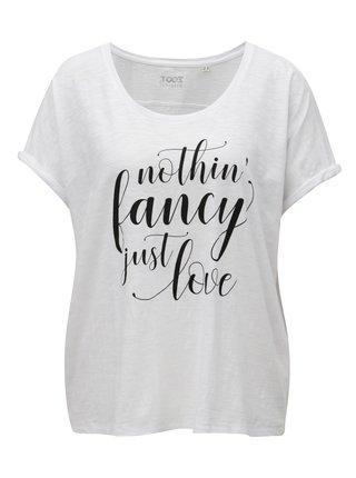 Bílé dámské tričko s potiskem ZOOT Just love