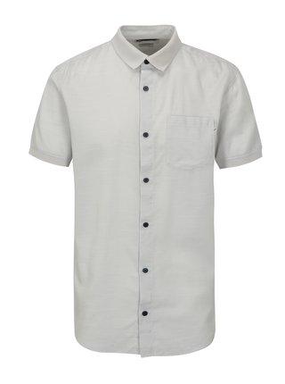 Svetlosivá slim fit košeľa s náprsným vreckom Jack & Jones Glendale