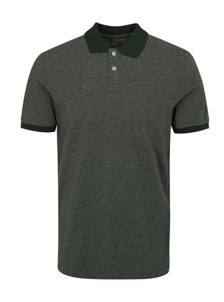 Tricou polo verde Selected Homme Slub