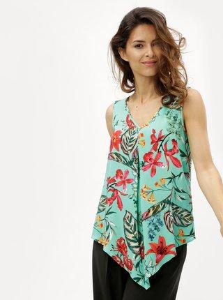 Bluza verde cu model floral si barete la spate M&Co