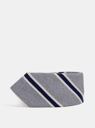 Cravata gri in dungi Jack & Jones