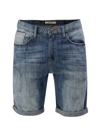 Pantaloni scurti albastri din denim cu model discret Blend