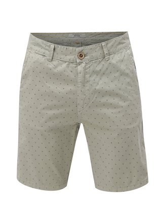 Pantaloni scurti gri deschis chino cu model Blend