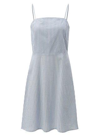 Rochie albastru deschis in dungi cu bretele subtiri Blendshe Camilia