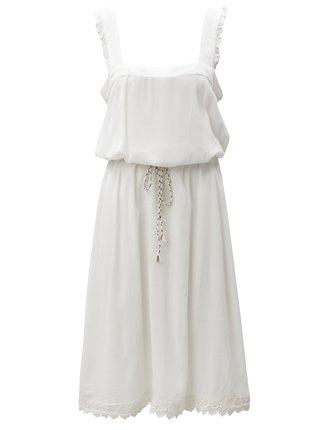 Biele šaty s čipkovými detailmi Blendshe Karodal