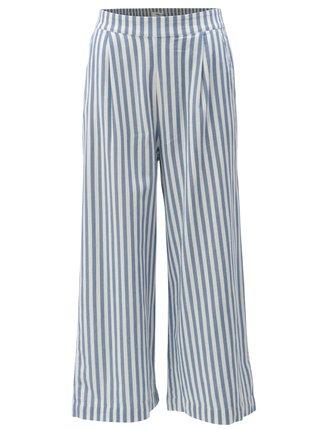 Pantaloni culottes alb-albastru in dungi Moss Copenhagen