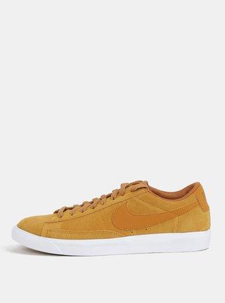 Horčicové pánske semišové tenisky Nike Blazer Low Suede