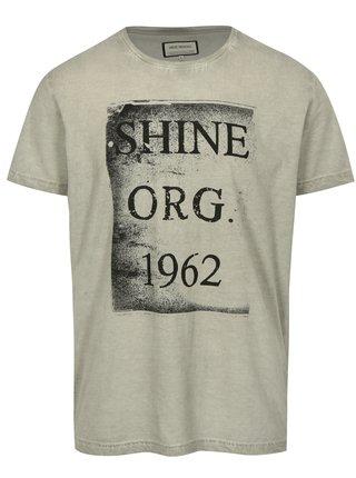 Tricou gri cu imprimeu si maneci scurte Shine Original